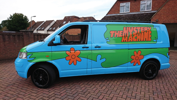 Mystery Machine Colour Change Wrap rolling around  Beaconsfield